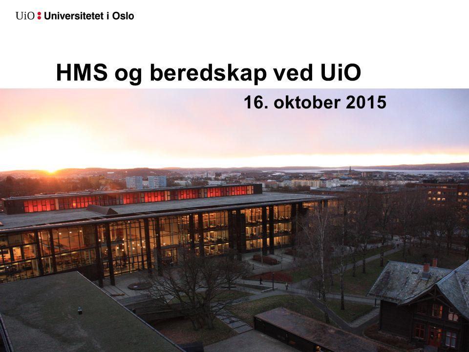 2 HMS og beredskap ved UiO 16. oktober 2015
