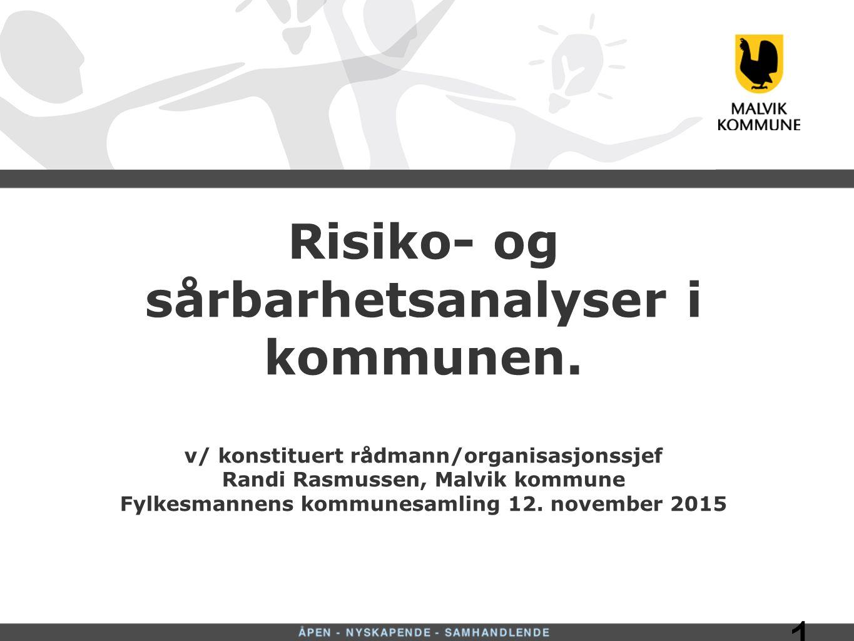 1 Risiko- og sårbarhetsanalyser i kommunen.