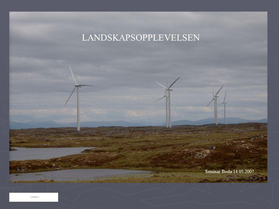 LANDSKAPSOPPLEVELSEN Seminar Bodø 14.05.2007