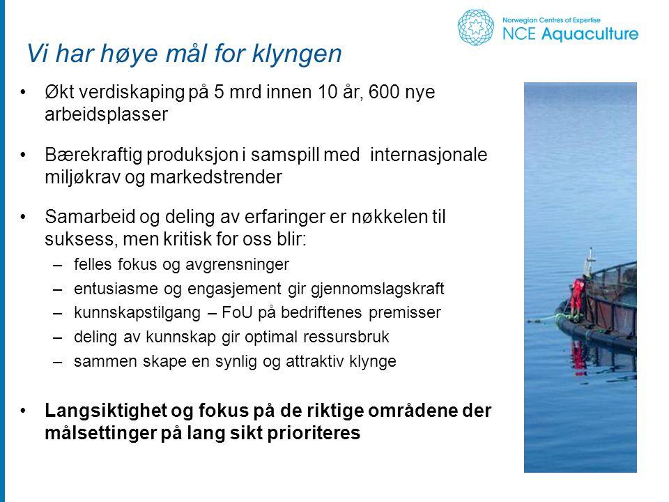 Arbeidsområder Foto: Akva serveses 1.Innovasjon - samarbeid om innovative utviklingsprosjekter 2.