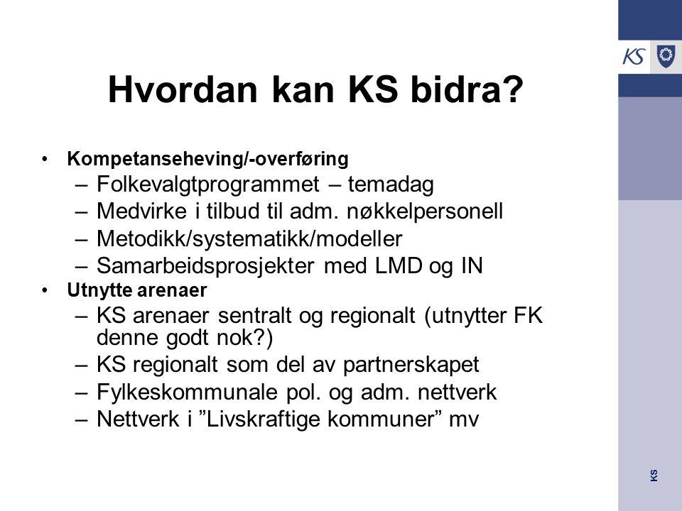 KS Hvordan kan KS bidra.