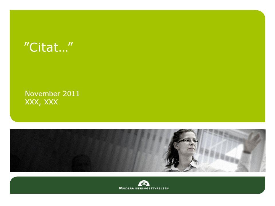 Citat… November 2011 XXX, XXX