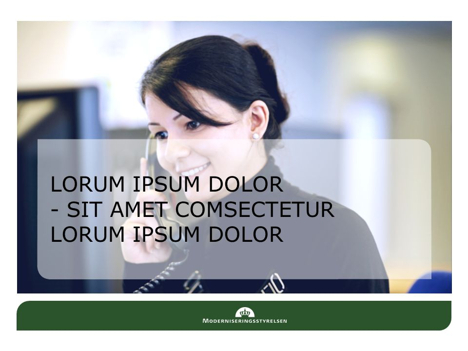 LORUM IPSUM DOLOR - SIT AMET COMSECTETUR LORUM IPSUM DOLOR