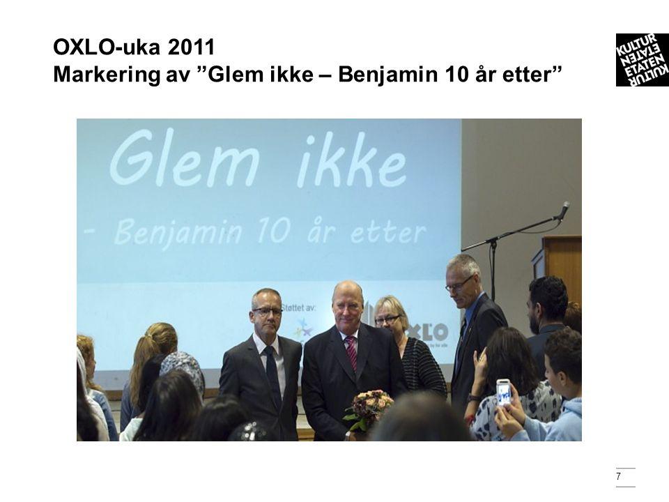 7 OXLO-uka 2011 Markering av Glem ikke – Benjamin 10 år etter