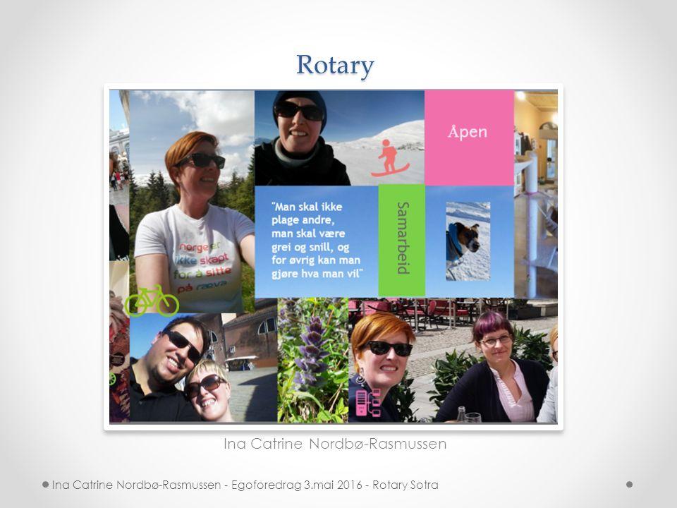 Rotary Ina Catrine Nordbø-Rasmussen Ina Catrine Nordbø-Rasmussen - Egoforedrag 3.mai 2016 - Rotary Sotra