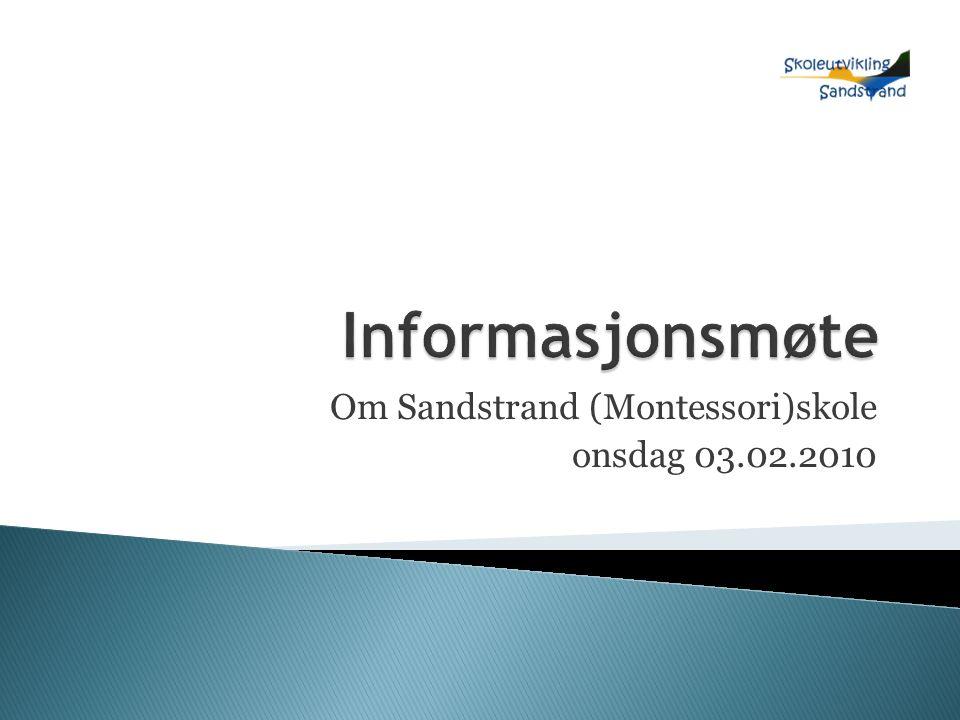 Om Sandstrand (Montessori)skole onsdag 03.02.2010