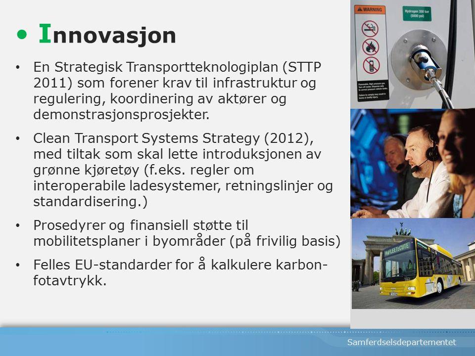 Samferdselsdepartementet En Strategisk Transportteknologiplan (STTP 2011) som forener krav til infrastruktur og regulering, koordinering av aktører og demonstrasjonsprosjekter.