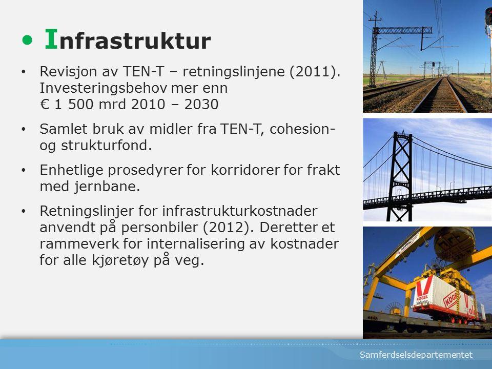 Samferdselsdepartementet Revisjon av TEN-T – retningslinjene (2011).