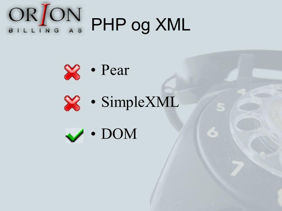 PHP og XML Pear SimpleXML DOM