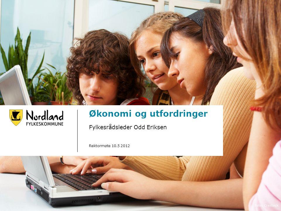Økonomi og utfordringer Fylkesrådsleder Odd Eriksen Rektormøte 10.5 2012 Foto: Crestock