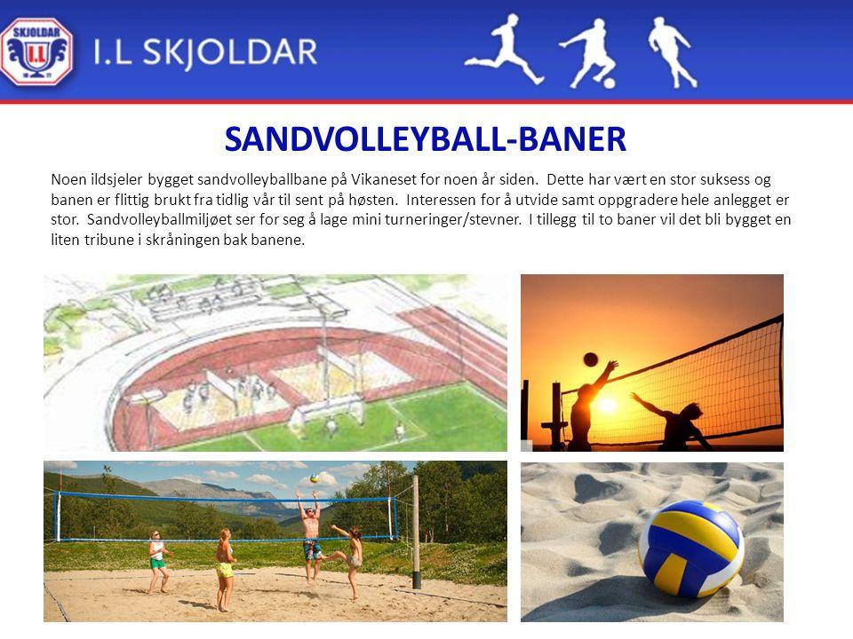 SANDVOLLEYBALL-BANER Noen ildsjeler bygget sandvolleyballbane på Vikaneset for noen år siden.