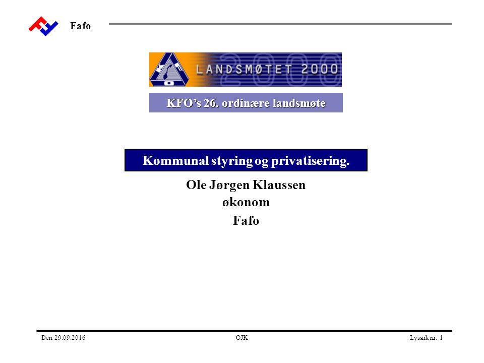 Fafo Den 29.09.2016OJKLysark nr: 1 KFO's 26.