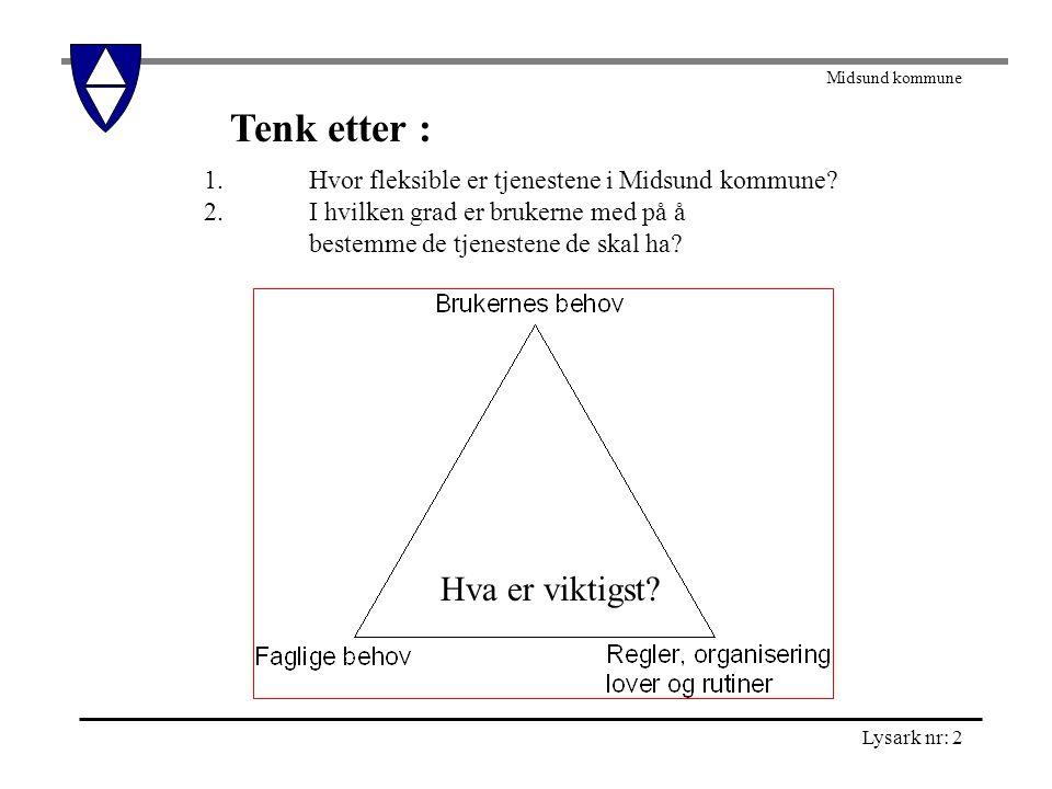 Midsund kommune Lysark nr: 3 Tenk etter: 1.