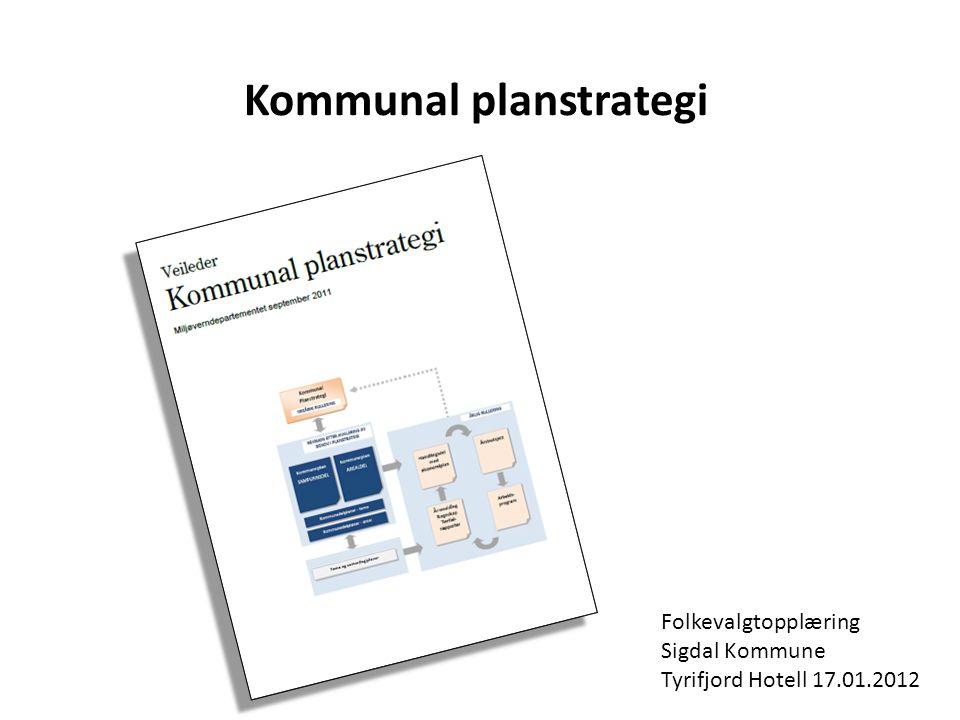 Kommunal planstrategi Folkevalgtopplæring Sigdal Kommune Tyrifjord Hotell 17.01.2012