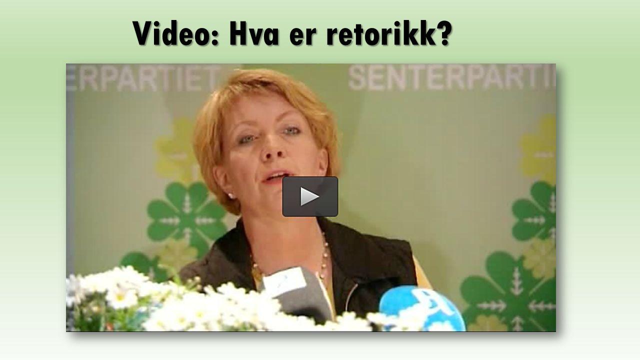 Video: Hva er retorikk