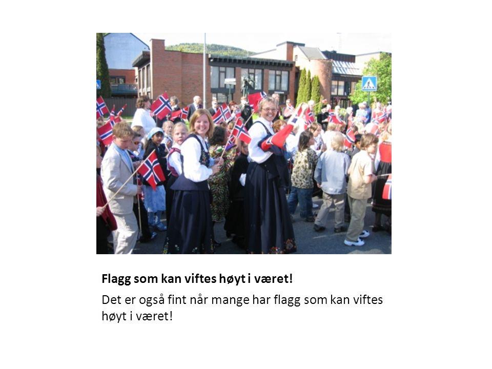 Flagg som kan viftes høyt i været.