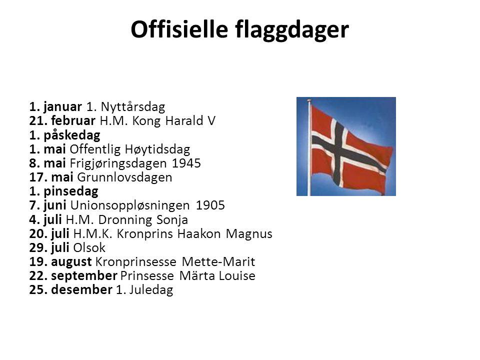 Offisielle flaggdager 1. januar 1. Nyttårsdag 21.