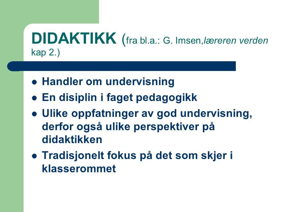 DIDAKTIKK ( fra bl.a.: G.