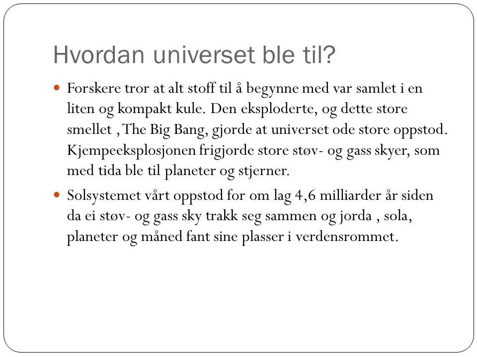 Hvordan universet ble til.