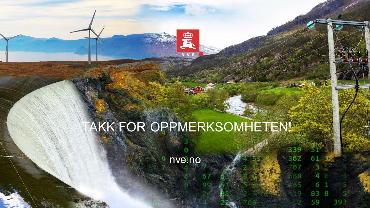 TAKK FOR OPPMERKSOMHETEN! nve.no
