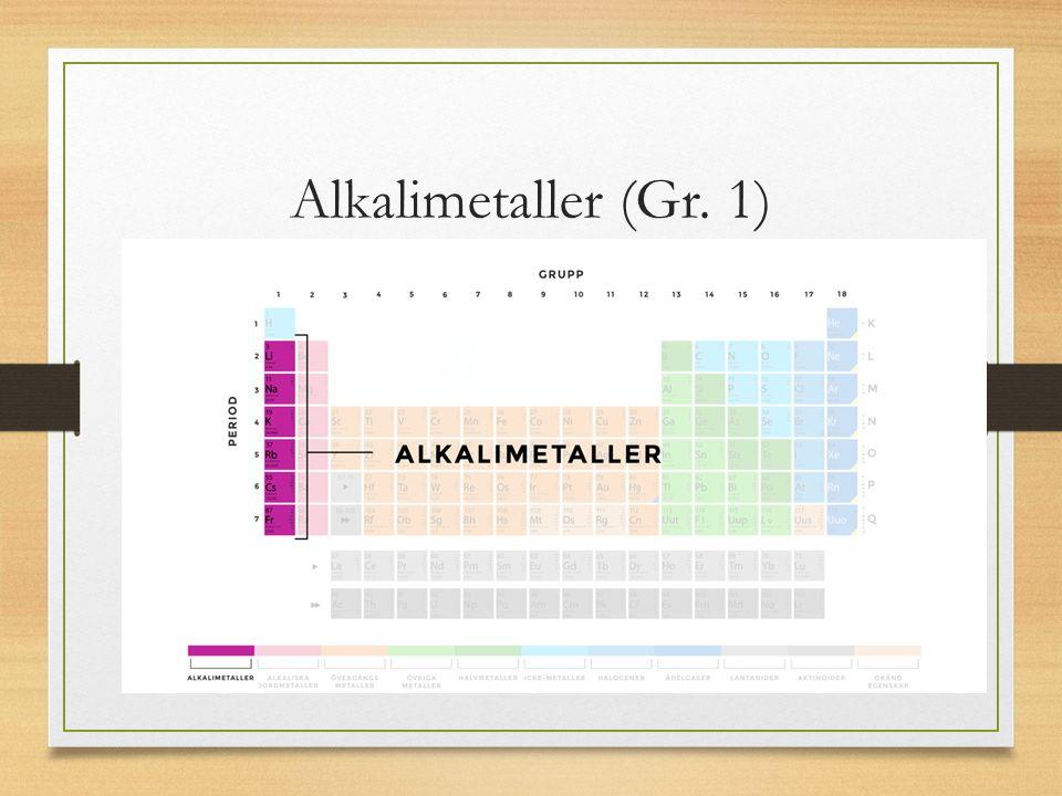 Alkalimetaller (Gr. 1)