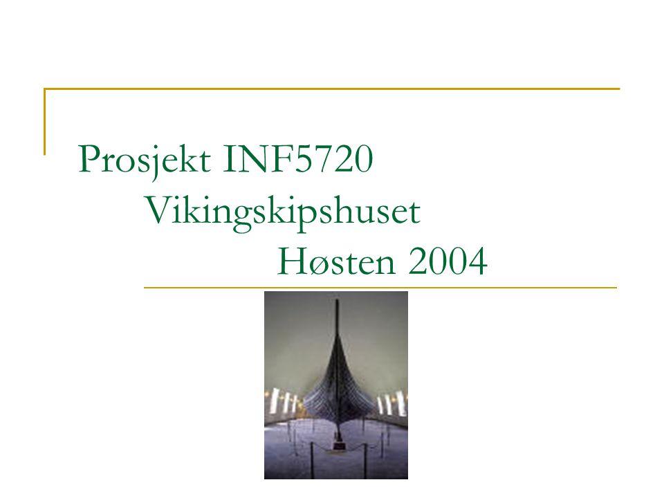 vikingskipshusetvikingskipshuset 2004.11.12 INF5720 - Vikingskipshuset 2 Deltakere Ingvild Hardeng Geir Atle Hegsvold Vu Mai Sara Rana
