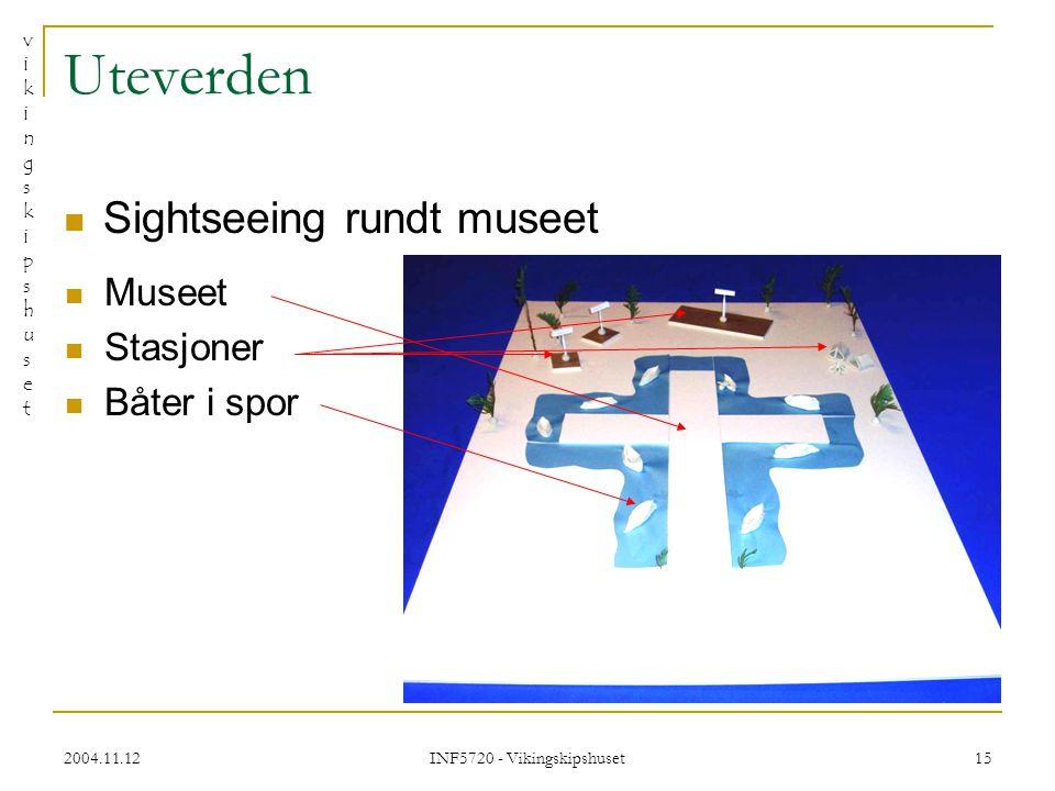 vikingskipshusetvikingskipshuset 2004.11.12 INF5720 - Vikingskipshuset 15 Uteverden Sightseeing rundt museet Museet Stasjoner Båter i spor