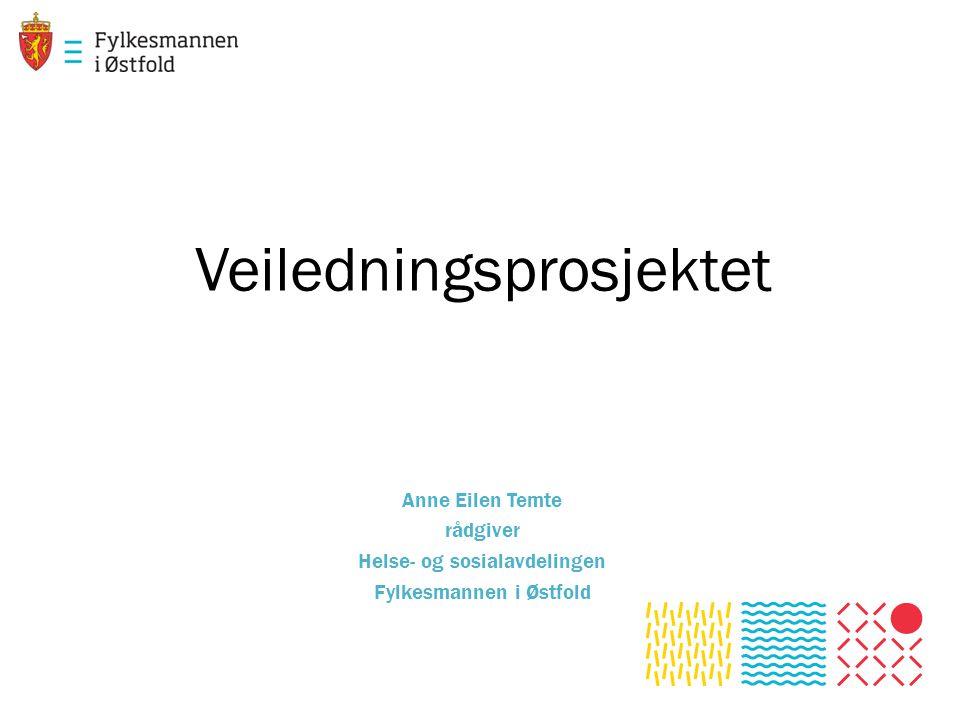 Veiledningsprosjektet Anne Eilen Temte rådgiver Helse- og sosialavdelingen Fylkesmannen i Østfold