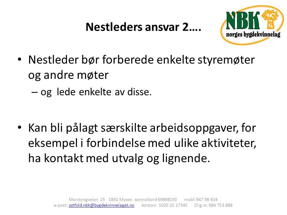 Nestleders ansvar 2….