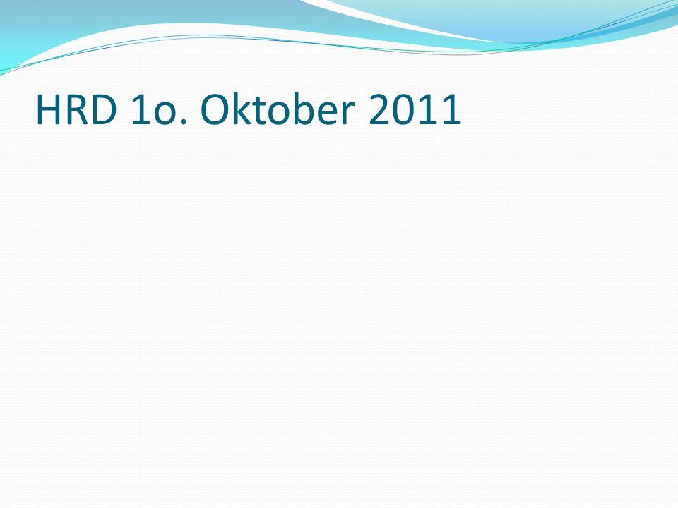 HRD 1o. Oktober 2011