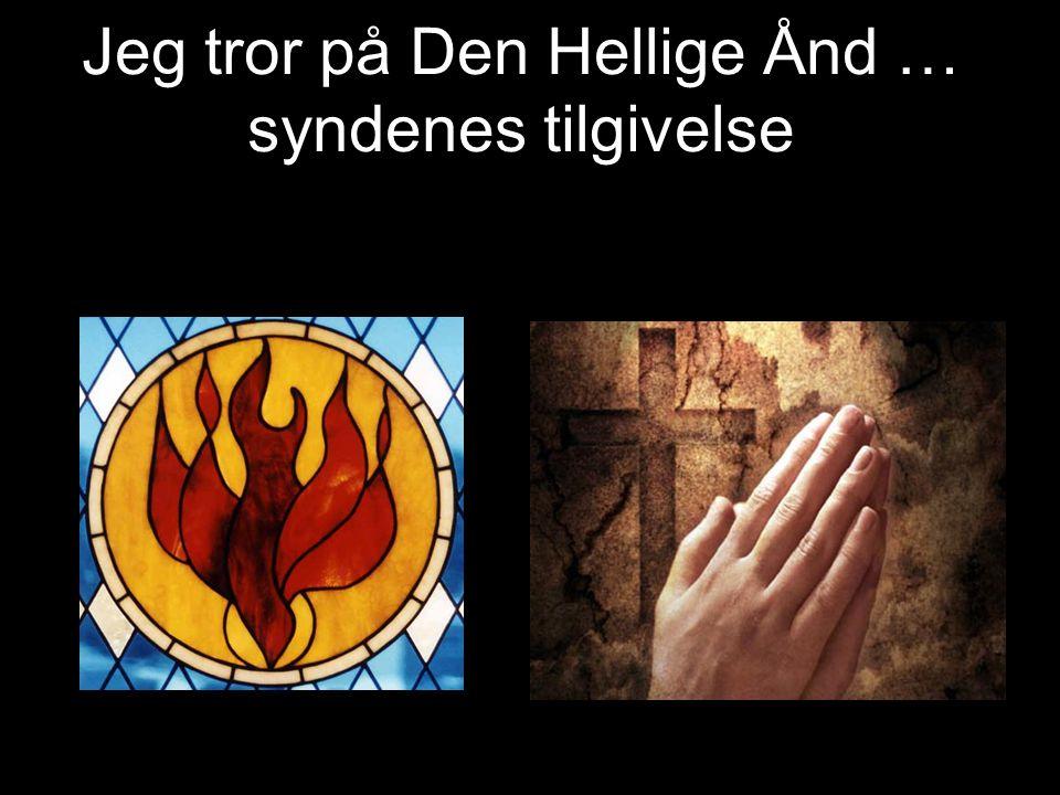 Jeg tror på Den Hellige Ånd … syndenes tilgivelse