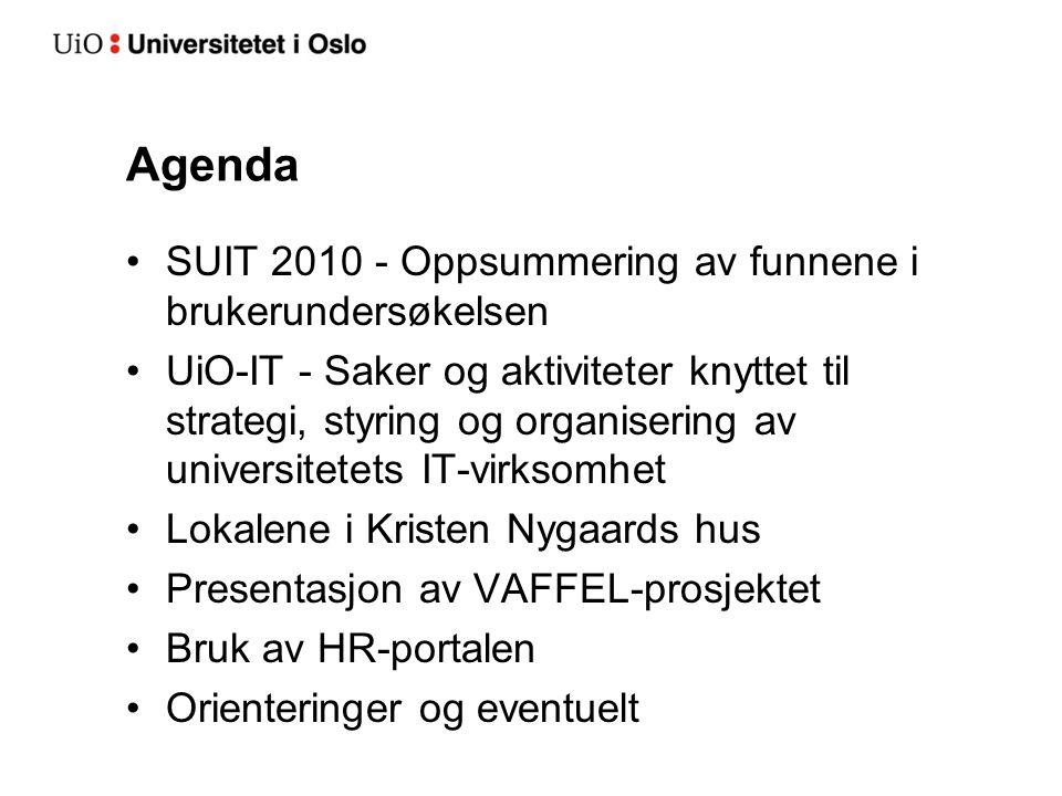 Spennende tider Kristen Nygaards hus UiO-IT IHR, internt handlingsrom Studiekvalitet Vitenskapelig databehandling