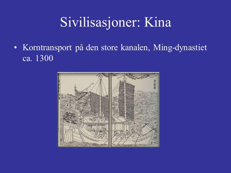 Sivilisasjoner: Kina Korntransport på den store kanalen, Ming-dynastiet ca. 1300