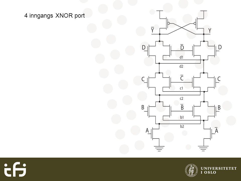 4 inngangs XNOR port