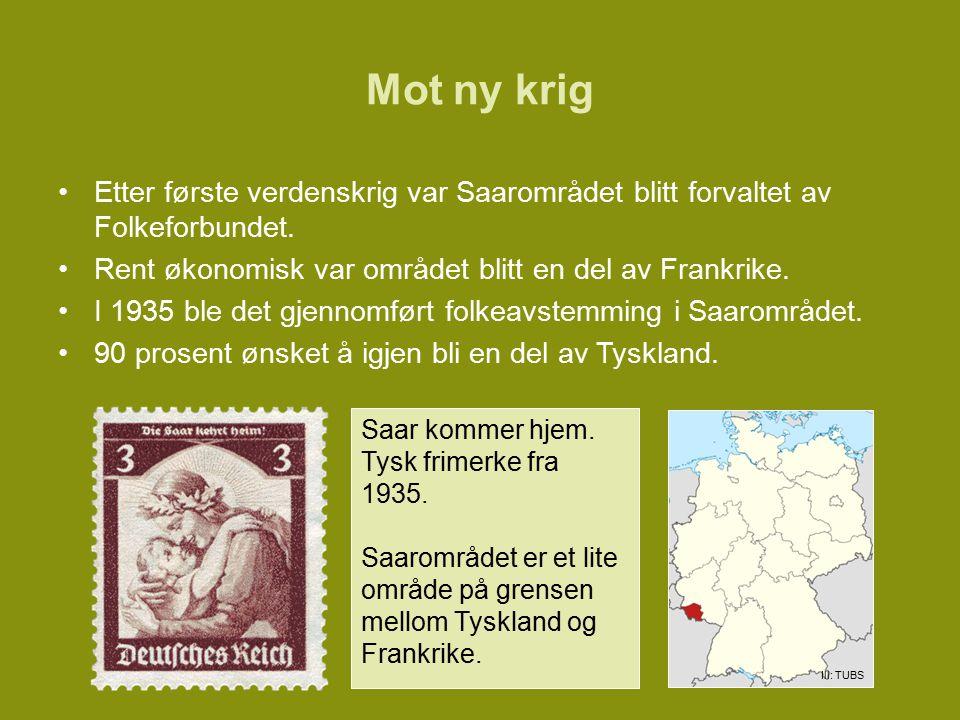 Saar kommer hjem.Tysk frimerke fra 1935.