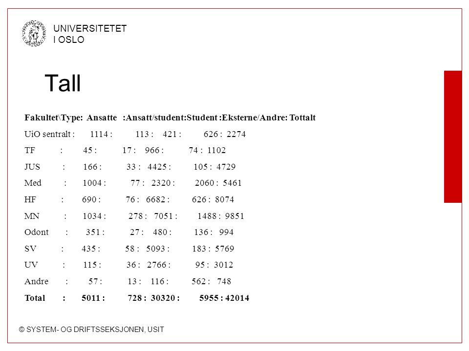 © SYSTEM- OG DRIFTSSEKSJONEN, USIT UNIVERSITETET I OSLO Printerkvoter Bygget opp rundt 5 begreper: Init.