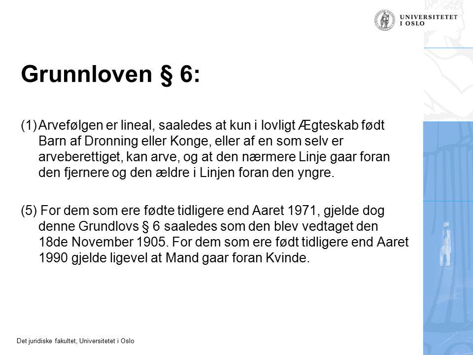 Det juridiske fakultet, Universitetet i Oslo Lykke til!
