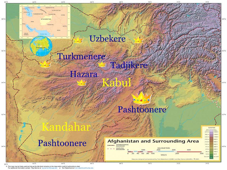 Uzbekere Kabul Kandahar Tadjikere Turkmenere Pashtoonere Hazara Pashtoonere