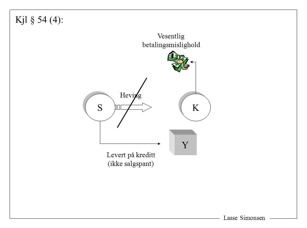 Lasse Simonsen S S K K Y Levert på kreditt (ikke salgspant) Vesentlig betalingsmislighold Kjl § 54 (4): Heving