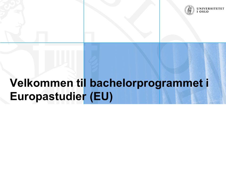 Velkommen til bachelorprogrammet i Europastudier (EU)