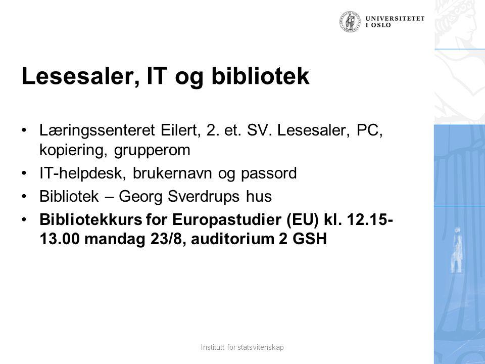 Lesesaler, IT og bibliotek Læringssenteret Eilert, 2.