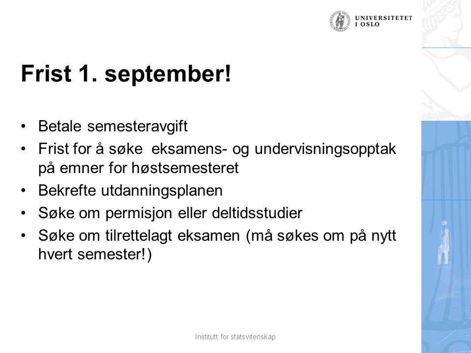 Frist 1. september.