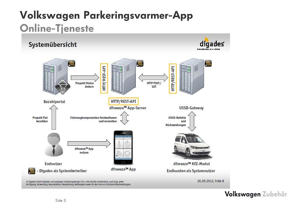 Volkswagen Parkeringsvarmer-App Online-Tjeneste Side 3