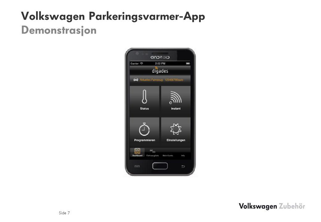 Volkswagen Parkeringsvarmer-App Demonstrasjon Side 7