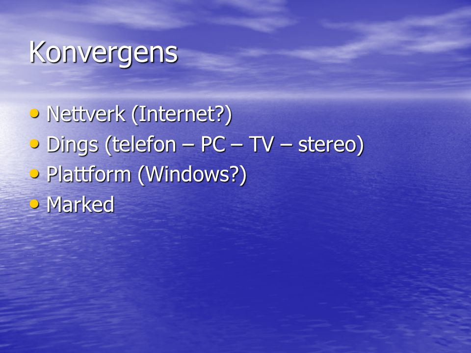 Hypoteser Alle systemer er path-dependent Alle systemer er path-dependent –> Det blir ingen konvergens!!!!!!!!!!!!!!.