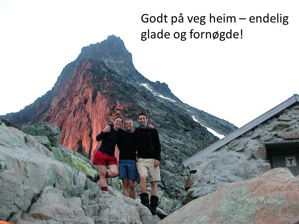 www.sfj.no Godt på veg heim – endelig glade og fornøgde!