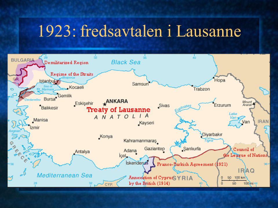 Reformer under Atatürk 1 1923 republikk 1924 kalifatet opphevet Religionen tett kontrollert gjennom Diyanet (Kontoret for religiøse saker) Avskaffelsen av kalifatet opplevd som svik: opprør 1925 Sheyh Sait