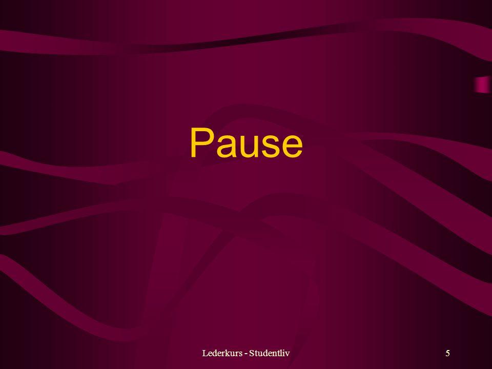 Lederkurs - Studentliv5 Pause