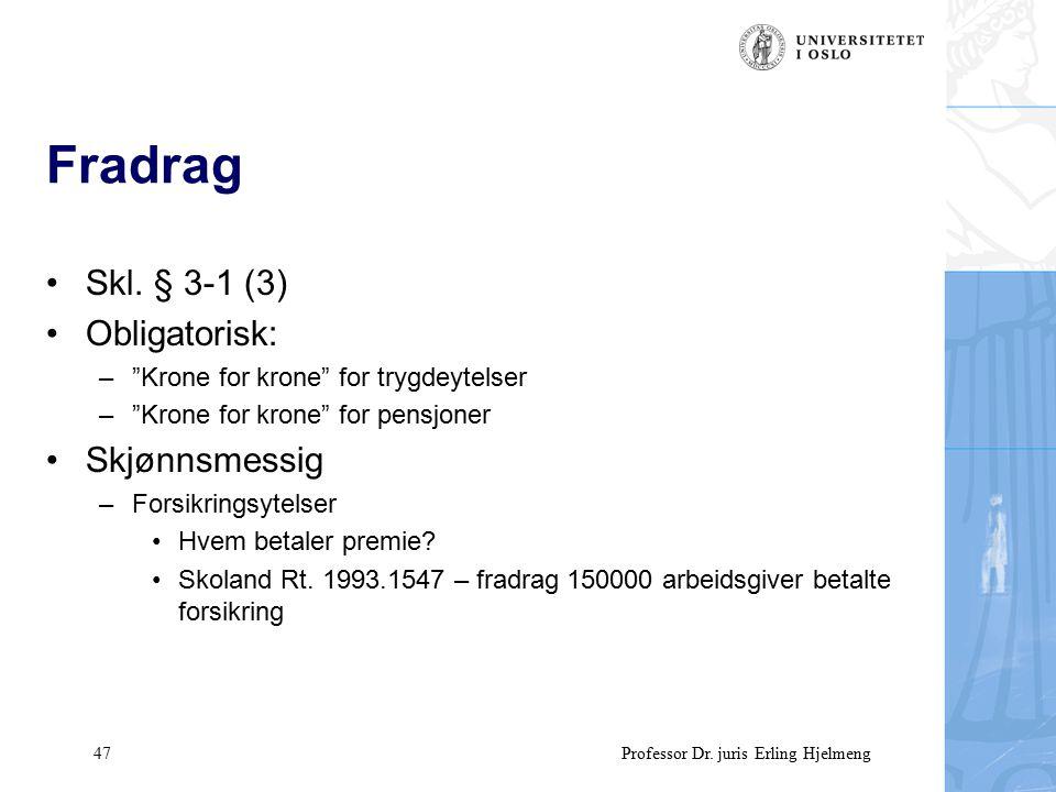 47 Professor Dr. juris Erling Hjelmeng Fradrag Skl.