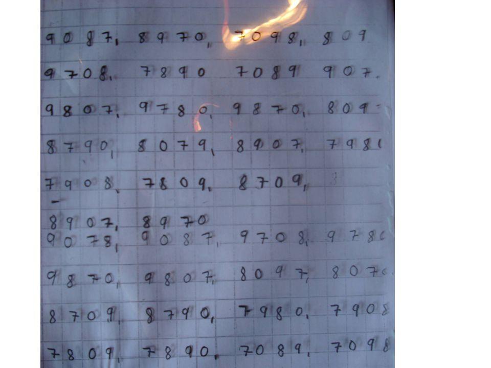 •Vi kan lage firesifrete tall og legge dem med papirpengene våre •Vi kan lage det største tallet og trekke fra det minste tallet •Vi kan se hvor mange